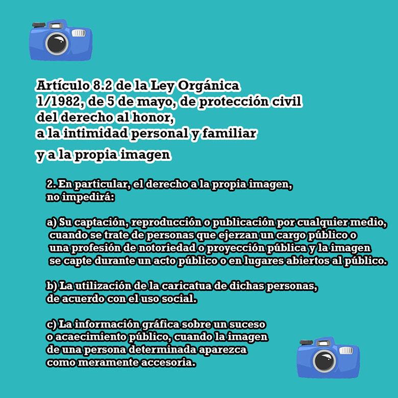 Artículo 8.2 dercho al honor, intimidad personal y a la propia imagen.
