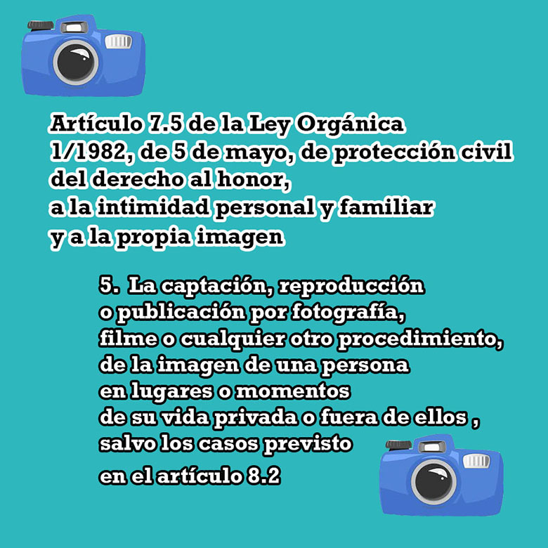Artículo 7.5 Ley orgánica, protección del derecho al honor, intimidad personal y familiar y a la propia imagen.
