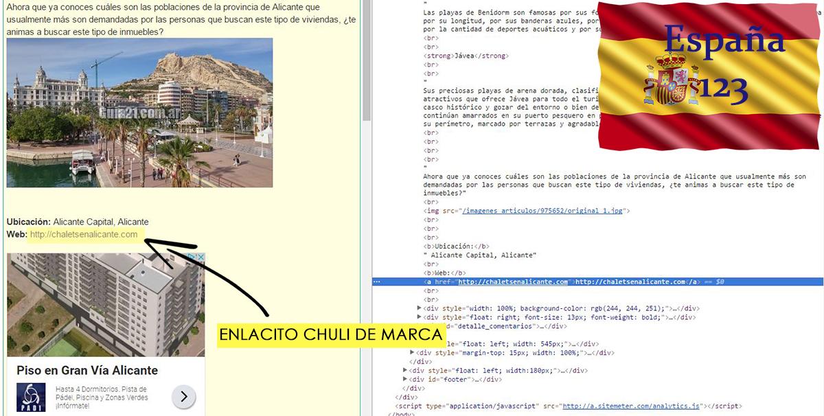 Enlace de marca dofollow en España 123.